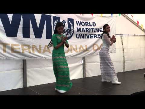 Myanmar dance at World Maritime Universtity, Sweden