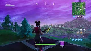 Fortnite Season 8 Glitch Solos Floating in Air Hill Next to Loot Lake