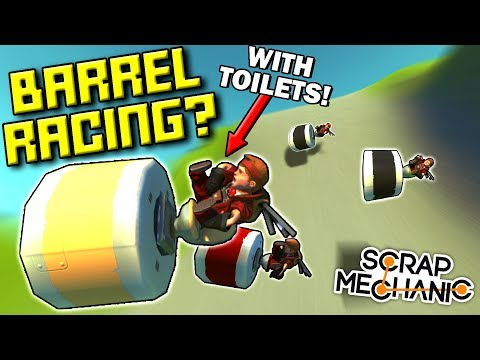 SILLIEST BARREL ROLL RACE! (GRAVITY ONLY!)  - Scrap Mechanic Multiplayer Monday! Ep 86