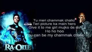 Ra One Chamak Challo (full song) Akon With Lyrics