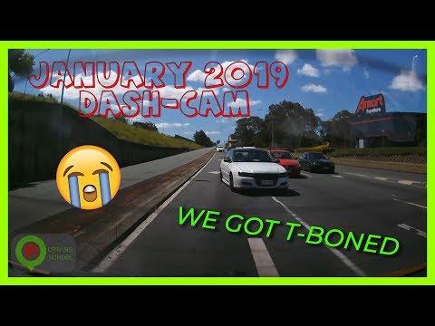 Driving school car crashes!