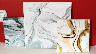 Acrylic pouring: Marble look. Tips & Findings for a giant table top sample piece. Fluid Art