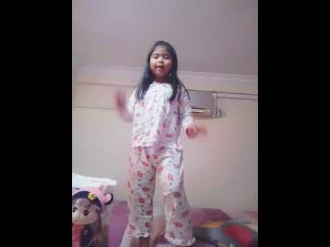 Cute girl hip hop dancing