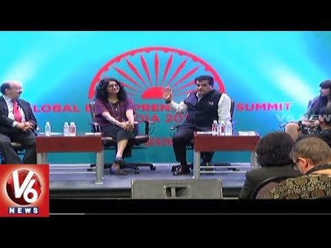 GES 2017 : Amitabh Kant Participates In Panel Discussion On Smart Cities || V6 News