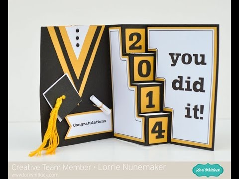 Graduation Card with the Silhouette - YouTube