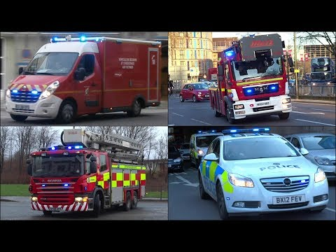 Police, Ambulance & Fire Truck Siren Compilation - Hi Lo & Two Tones -