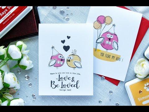 Custom Doodle Love Cards