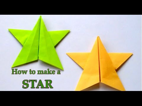 origami star tutorial - how to fold star easy step by step ... - photo#17