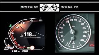 BMW 330d G21 VS. BMW 320d E92 …
