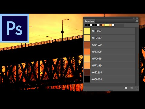 Photoshop Tutorial: Quickly Create a Color Scheme from a Photo  -HD-