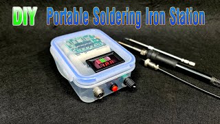 How to make a Portable Soldering Iron Station with plastic box