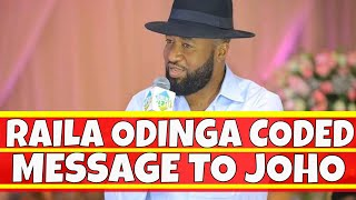 Raila Odinga Coded Message to Hassan Joho via Orengo and Junet Mohamed in Mombasa yesterday