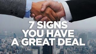 7 Signs You Have a Great Deal - Real Estate Investing Made Simple