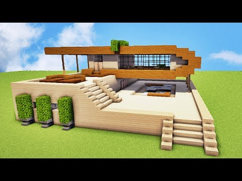 Tuto belle maison facile sur minecraft youtube for Belle maison minecraft
