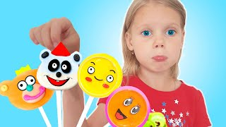 Pretend to play with HUBBA HUBBA and color songs | Vitalina life