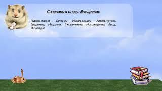синонимы к слову внедрение в видеословаре русских синонимов онлайн