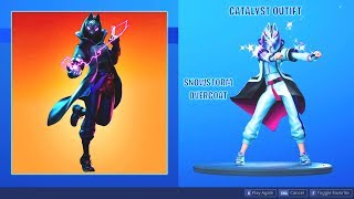 FORTNITE *CATALYST* (SNOWSTORM OVERCOAT) FEMALE DRIFT SKIN SHOWCASE (BACKBLINGS AND EMOTES)