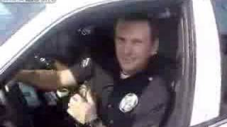 Cop caught breaking the law