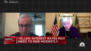 Janet Yellen: Interest rates may need to rise modestly