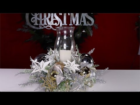 GLAM Centerpiece DIY /  How To Make A Frosty Centerpiece (With Dollar Tree Items)