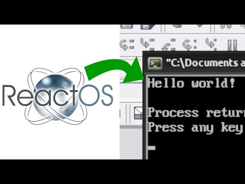 Creating a Hello World program in ReactOS is now just as easy as on
