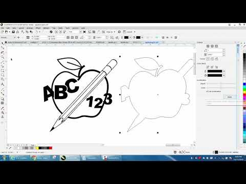 Corel Draw Tips & Tricks Clipart Teacher Apple Part 3