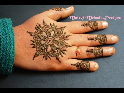Simple Easy Mehndi Henna Designs For Beginners Matroj