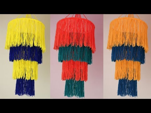 WOW !!! Easy And simple Wall Hanging Idea || Woolen Craft || Jhumar