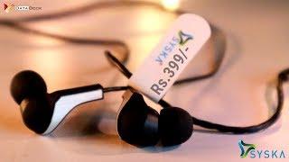 Syska Beat Pro Earphone   HE1100-BK   Bass Booster Earphone at Rs.399/-   HINDI   Data Dock