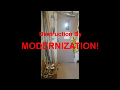 Destruction Of A Vintage Roelofson Gated Elevator At Gerstein Library In Toronto, ON.