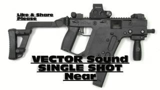 Vector Gun Sound Single Shot Near