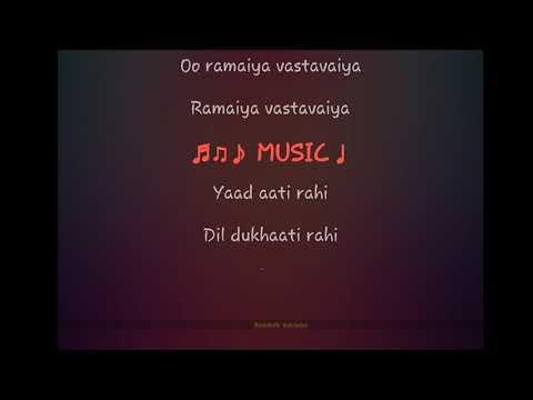 Ramaiya Vastavaiya Song Full Karaoke With Lyrics
