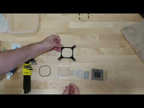 How to clean a CPU Waterblock