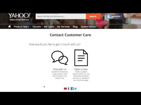 How To Contact Aabaco Yahoo Using Live Chat Feature
