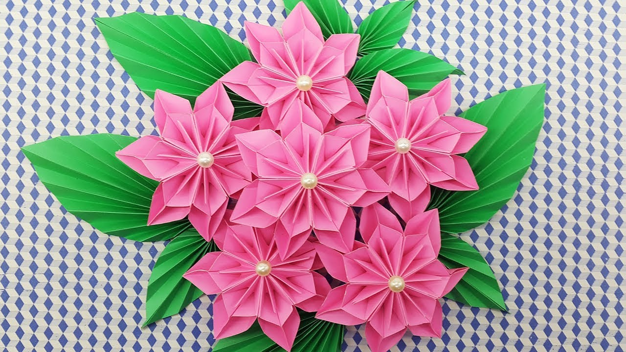 Diy Paper Flowers Bouquet How To Make A Paper Flower Easy For Beginners