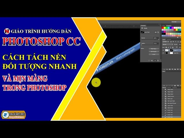 Cách Tách Nền Đối Tượng Nhanh và Mịn Màng Trong Photoshop   Photoshop CC   Lương Minh Triết