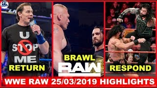 WWE Monday Night Raw- March 25, 2019 Highlights Preview | WWE Raw 25/03/2019 Highlight