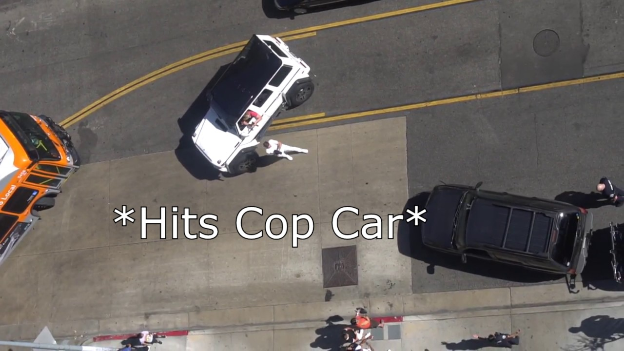 LOGAN PAUL CAR CRASH!! LADY HITS LOGAN & COP CAR!! **NOT ...