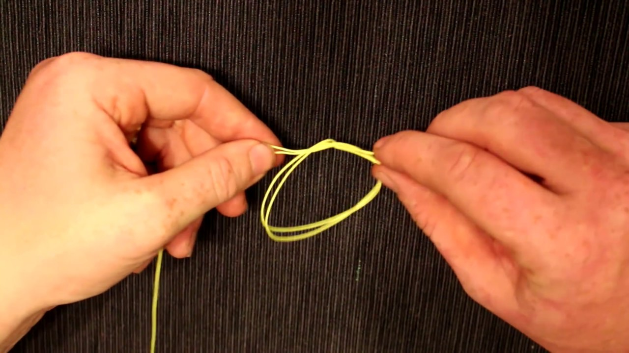 My favorite fishing knot the surgeons loop figure eight for Surgeon s knot fishing