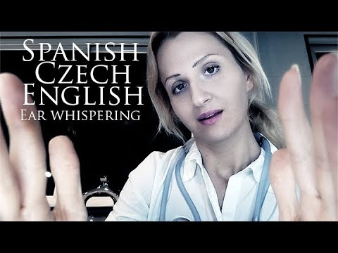 TRILINGUAL ASMR Ear Exam Doctor Roleplay   Ear Whispers, Page Turning, Cupping
