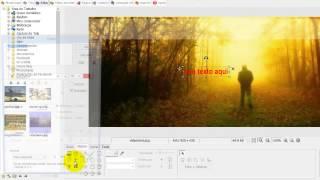 Escrever Frase sobre Faixa transparente no PhotoScape