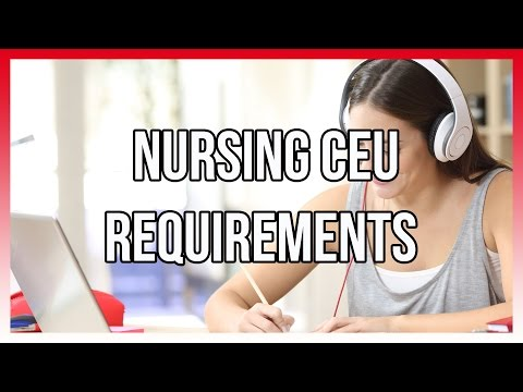 Nursing CEU Requirements