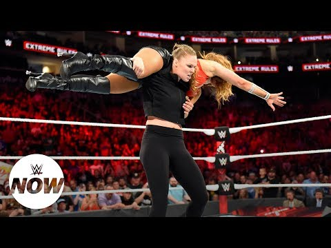 Ronda Rousey charges from the crowd in Extreme Rules Match: WWE Now