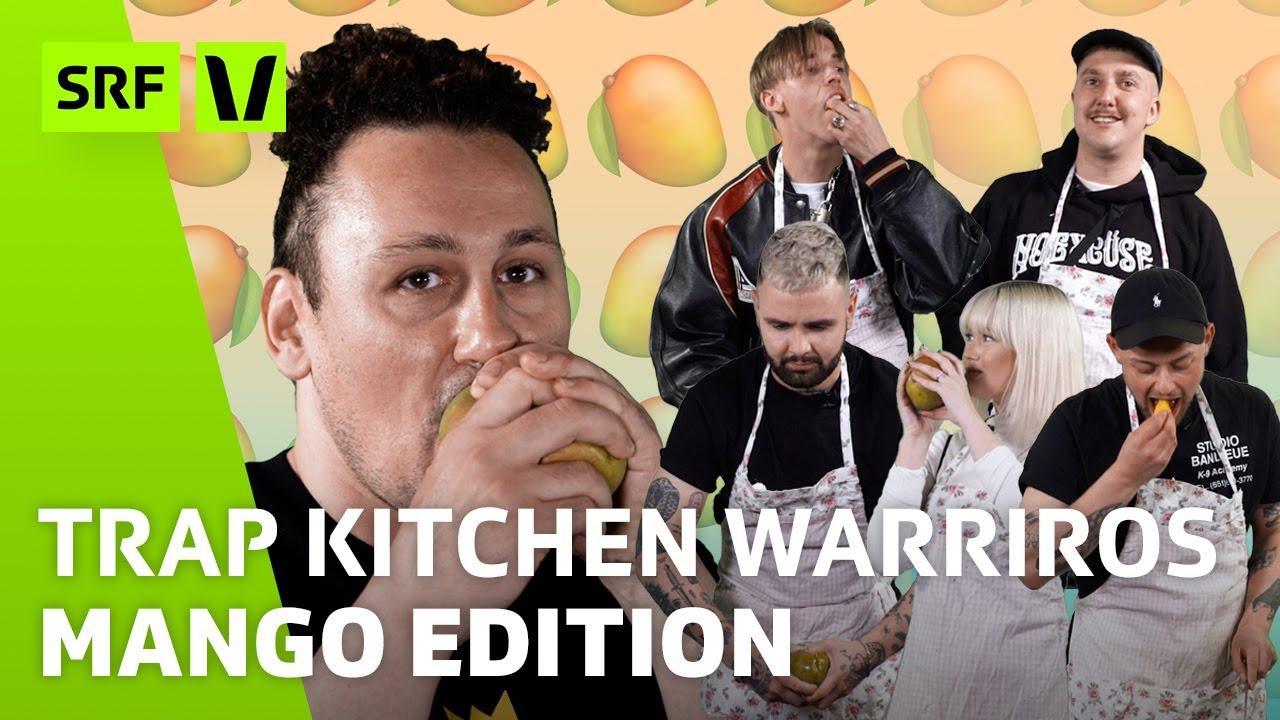 Mango richtig schneiden: Schälen vs. würfeln vs. aussaugen?! | Trap Kitchen Warriors | SRF Virus