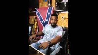 Black man speaks on Confederate Flag.