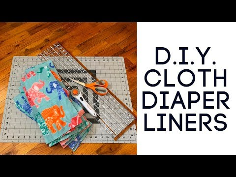 HOW TO MAKE CHEAP RE-USABLE FLEECE CLOTH DIAPER LINERS