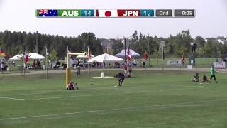 2018 World Jr. Ultimate Championships | Game 2 - Men: Japan vs Australia | Aug. 19