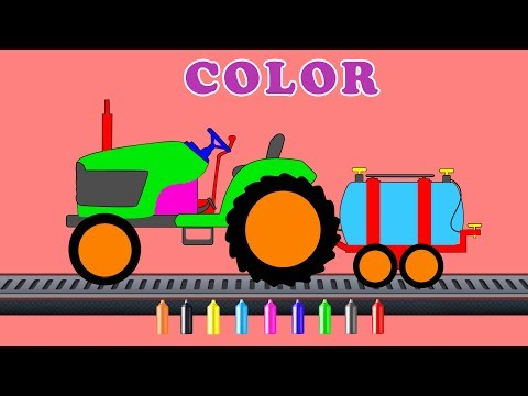 kids tv channel | learn colors with tractor | cartoon cars