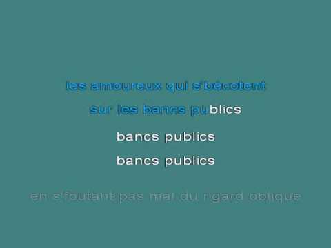 Les Amoureux Des Bancs Publics [karaoke]
