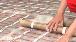 Монтаж теплого пола под плитку.(Здесь представлено видео по монтажу теплого электрического пола на основе тонкого нагревательного мата., 2012-08-21T10:52:14.000Z)